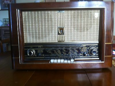 RADIO PHILIPS 1955 Vintage à TUBE BX 750 A  Bi ampli system Made in HOLLAND