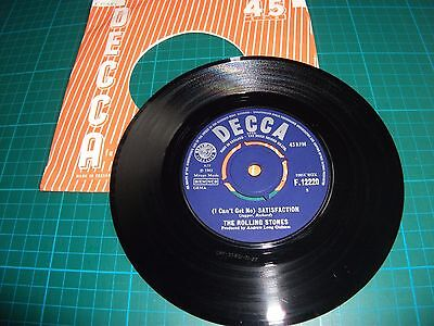 "The Rolling Stones - I Can't Get No Satisfaction 7"" Vinyl Single F 12220 Ex-"