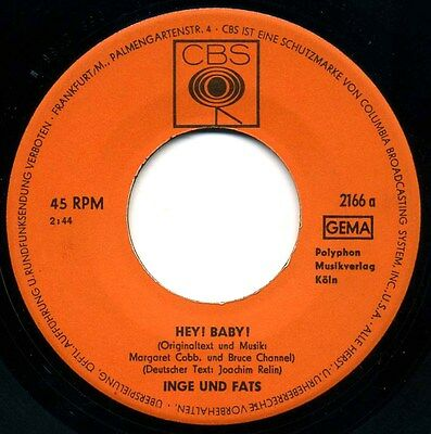 Inge Und Fats – Hey Baby – Freakbeat German - Ex!!!