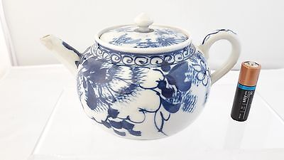 Superb Japanese / Chinese Antique 19thC/20thC Blue & White Little Tea Pot A/F