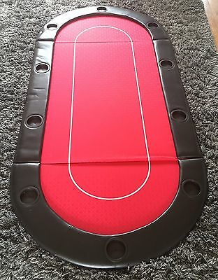 Red Foldable Poker Table & Case RRP £60