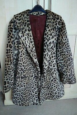 Ladies vintage faux fur coat,approx size 14??