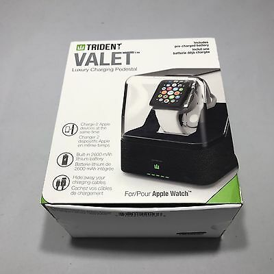 4401T TRIDENT Odyssey Valet for Apple Watch & iPhone - WHITE Charge Both!