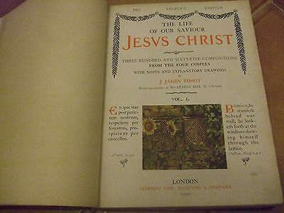 Rare Collectable Book The Life of Our Lord Jesus Christ J James Tissot Vol 1