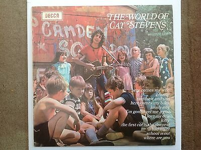 CAT STEVENS  THE WORLD OF decca UK LP S & V Vgc 1w Matrix 1st Press