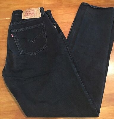 VINTAGE WOMENS BLACK LEVI'S 501 BUTTON FLY MADE IN USA Size 33 x 32