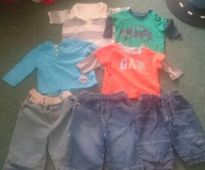 Baby boys clothes bundle 3-6 months tops trousers