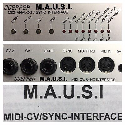 Doepfer MAUSI MIDI-to-CV/Gate/Sync Interface f. A-100 TR-808 TR-909 MC-202 1995