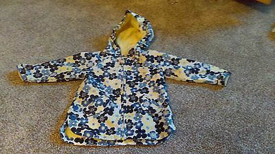 Mothercare girls raincoat summer jacket 6-9 months great used condition