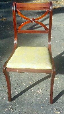 Rare- Hickory Chair Mfg. Co. Solid Mahagony cross back chair.