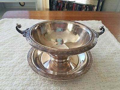 Vintage Wilcox Silver Plate Footed Bowl Candy Dish