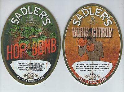 2 Sadlers Brewery Pump Clip Fronts (Lot 2)