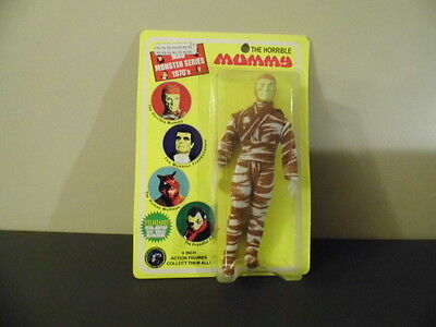 "The Horrible Mummy  8"" Action  Figure NIB mint on card Mad Monster series 1970's"