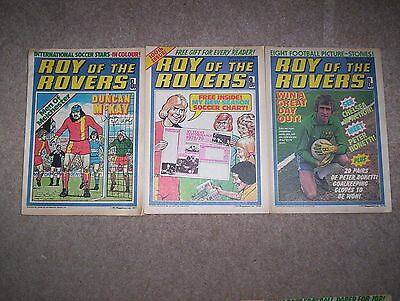 3 x Roy of the Rovers Weekly Comics Dated Sept 1977 & Aug 1978