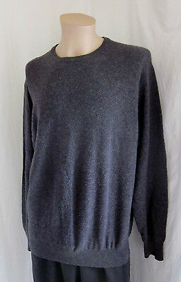 UNITED COLORS OF BENETTON Men's VINTAGE 100% LAMBSWOOL Brown Sweater L Large