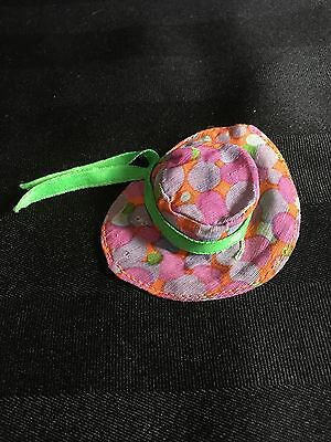 Vintage Barbie Mod 1973 #3206 Simply Summer Hat Only Green Ribbon