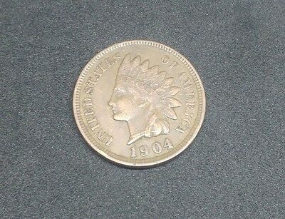 1904 - Indian Head - One Cent Coin - United States of America