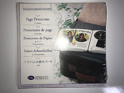 "Creative Memories Page Protectors 7x7 Scrapbook Album 7""x7"" Set of 12 New"