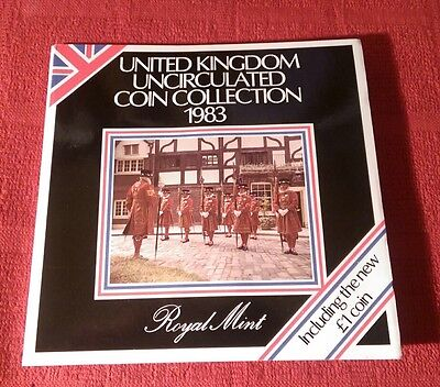 1983 Brilliantly Uncirculated Royal Mint,Official year/Annual Coin Set,Bunc/Unc.