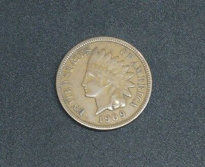 1909 - Indian Head - One Cent Coin - United States of America