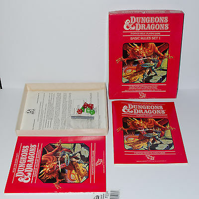 Tsr 1011 Dungeons & Dragons Dungeon Basic Rules Set 1 Rpg Player's Manual