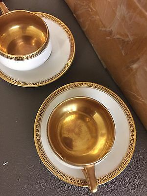 KPM Germany gold leaf Cups And Saucers