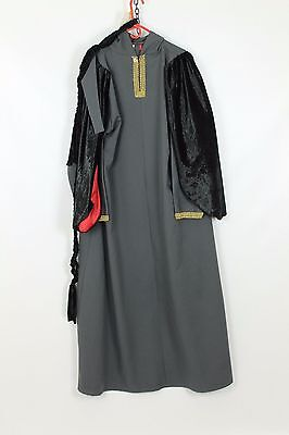 Mens Grey Medieval Robe Sheriff of Nottingham Re-enactment Costume Fancy Dress