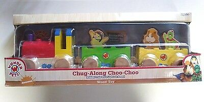 RARE SEALED 2004 Wonder Pets Nickelodeon Train with Lights and Sounds Wood Toy