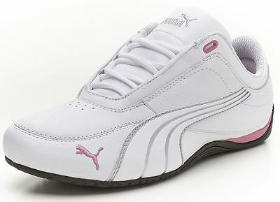 87b22bc216cb53 Puma Drift Cat 4 Women s Leather Sneakers Shoes White-Silver-Chateau Rose