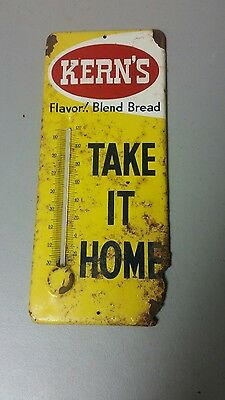 Vintage KERNS BREAD Thermometer  General Store Sign Take it Home