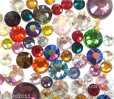 Swarovski 2058 Crystal Flatbacks No-Hotfix Rhinestone Mix size Color ss6 -ss 20