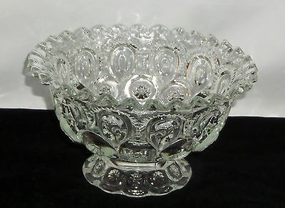 "LE Smith MOON & STARS CRYSTAL *7 1/2"" CRIMPED COMPOTE*"