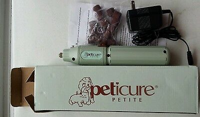 Peticure Petite Pet Nail Trimmer, Cordless, Rechargeable Rotary grinder