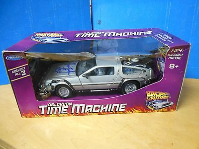 Welly Back To The Future Delorean Diecast - Signed Christopher Lloyd-Psa/dna Coa