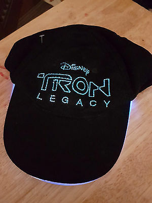 Tron Legacy Promo Baseball Cap - LIGHTS UP! Rare Disney movie collectable