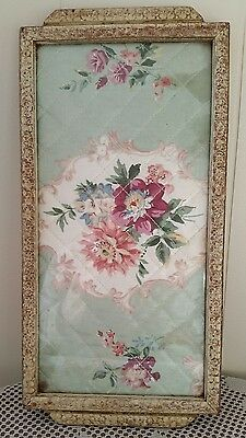 Vintage Quilted Serving Tray