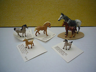 Lot of 5 Hagen Renaker Horse Pony Foal Colt Figurines 4 on Cards
