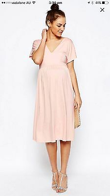 Pink Maternity Midi Dress Asos Brand New