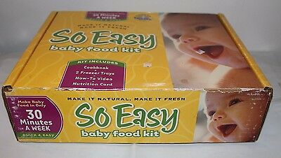 So Easy Baby Food Kit, 2 Food Trays, CD and Cook Book