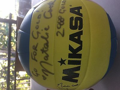 Offical Mikasa beach volleyball signed by Sydney Gold medal winner Natalie Cook