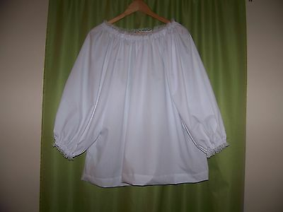 Renaissance Chemise  Costume Peasant Blouse Civil War Pirate Shirt Top Xxl