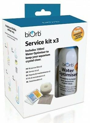 BiOrb Service Kit With Water Optimiser (Pack Of 3) Aquarium Cleaner UK POST FREE