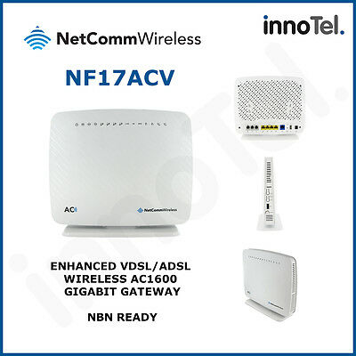Netcomm NF17ACV NBN Ready AC1600 WiFi VoIP ADSL/VDSL Wireless Modem Router