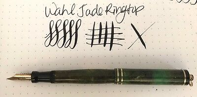 Wahl Signature Jade Ringtop Fountain Pen With Gold Bands