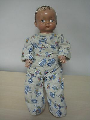 """Vintage EFFANBEE 1944 marked 18"""" composition and cloth Effanbee baby doll!!!"""