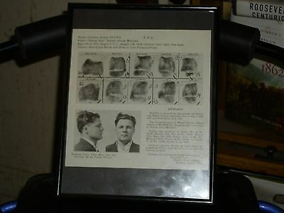 """Very Rare May 15 th 1931 Charles Arthur """" Pretty Boy """" Floyd Wanted Poster"""