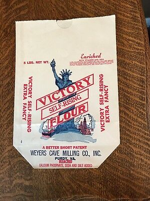 Victory Flour Bag, 5 lbs, New, Old Stock, Weyers Cave Milling Purdue, VA