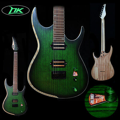 ASH Top mahogany wood Body Maple Neck Green Color ST style Electric Guitar