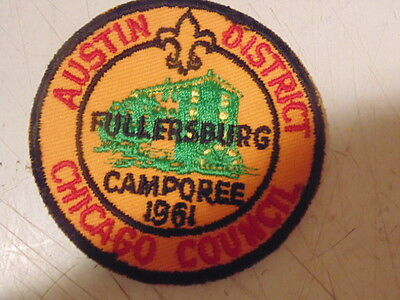 """Boy Scouts Of America Austin District,chicago Council, 3"""" Embroidered Crest."""
