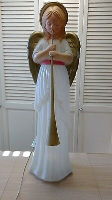 "Christmas-TPI-Angel W/ Horn Blow Mold-App.34"" Ht. W/ Cord"